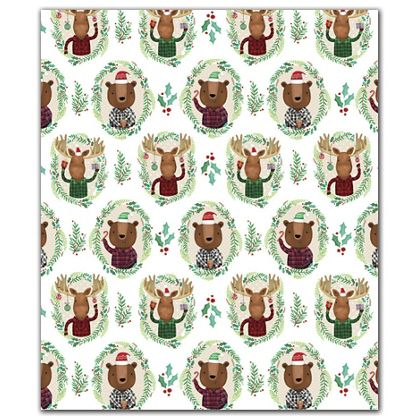 "Funky Flannels Gift Wrap, 30"" x 208'"