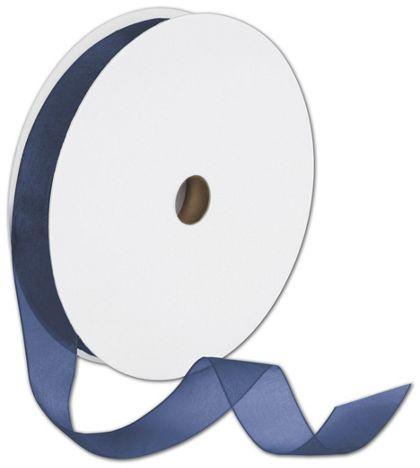 "Sheer Organdy Navy Ribbon, 7/8"" x 100 Yds"