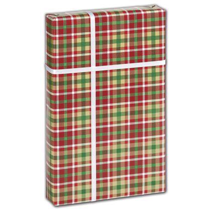 "Christmas Plaid Gift Wrap, 30"" x 417'"
