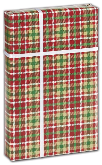 "Christmas Plaid Gift Wrap, 30"" x 208'"