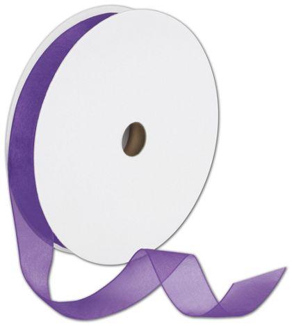 "Sheer Organdy Purple Ribbon, 7/8"" x 100 Yds"