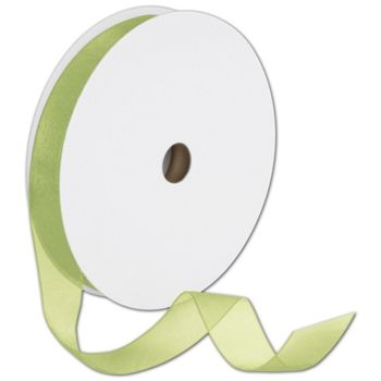 Sheer Organdy Lemongrass Ribbon, 7/8