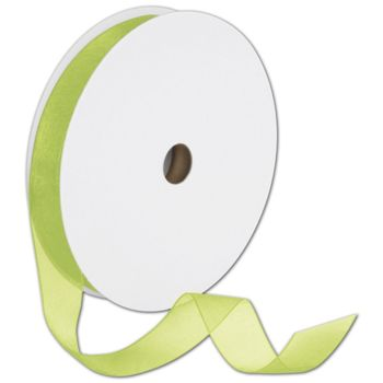Sheer Organdy Kiwi Ribbon, 7/8