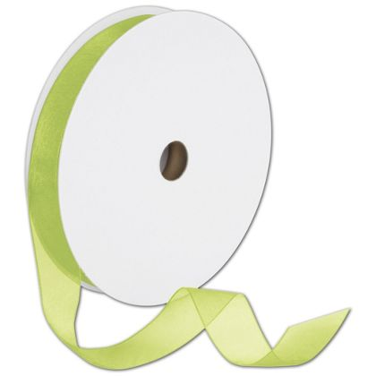 "Sheer Organdy Kiwi Ribbon, 7/8"" x 100 Yds"
