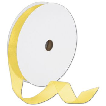 Sheer Organdy Yellow Ribbon, 7/8
