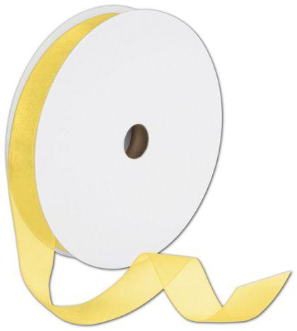 "Sheer Organdy Yellow Ribbon, 7/8"" x 100 Yds"