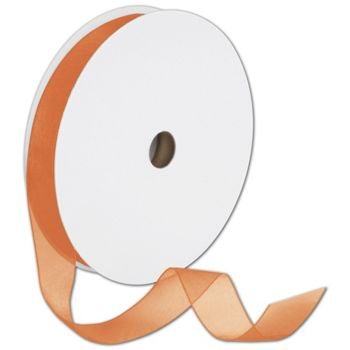 Sheer Organdy Orange Ribbon, 7/8