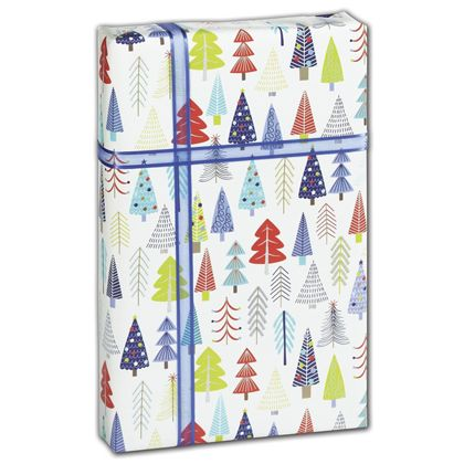 "Tinsel Trees Gift Wrap, 30"" x 208'"