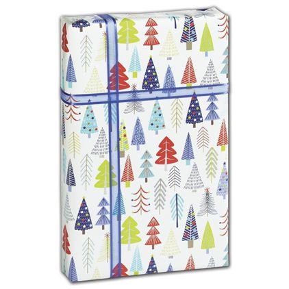 "Tinsel Trees Gift Wrap, 30"" x 208'"