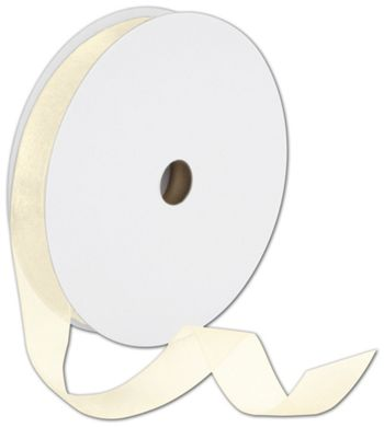 Sheer Organdy Cream Ribbon, 7/8