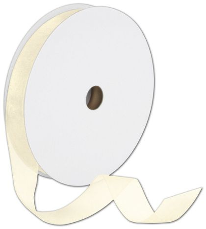 "Sheer Organdy Cream Ribbon, 7/8"" x 100 Yds"