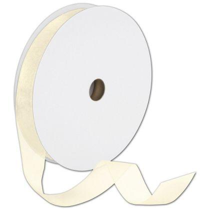"Sheer Organdy Cream Ribbon, 7/8"" x 100 Yds"