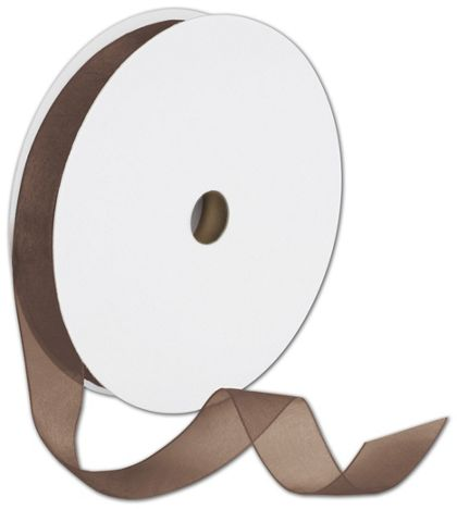 "Sheer Organdy Chocolate Ribbon, 7/8"" x 100 Yds"