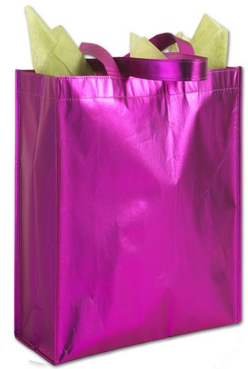 Party on Pink Metallic Non-Woven Totes