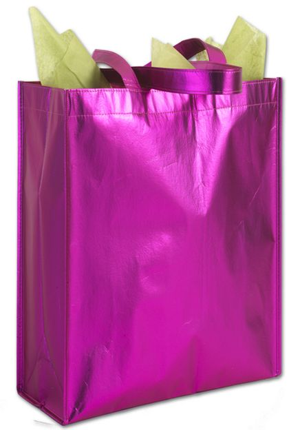 Party on Pink Metallic Non-Woven Totes