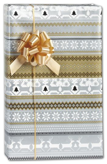 Sweater Print in Silver & Gold Gift Wrap, 30