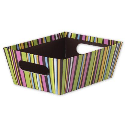 """Chocolate Stripes Market Trays, 9 x 7 x 3 1/2"""""""