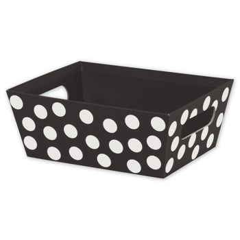 Black & White Dots Market Trays, 9 x 7 x 3 1/2