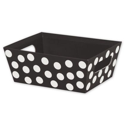 "Black & White Dots Market Trays, 9 x 7 x 3 1/2"""