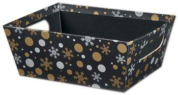 Christmas Elegance Market Trays, 9 x 7 x 3 1/2