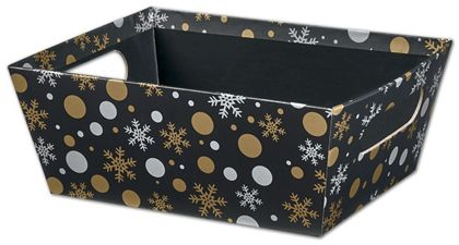 "Christmas Elegance Market Trays, 9 x 7 x 3 1/2"""