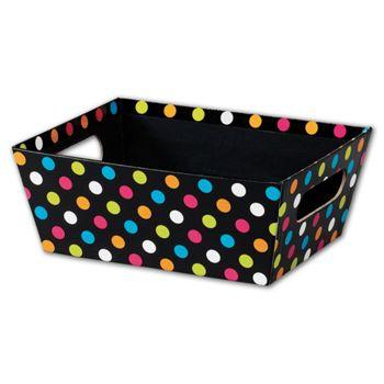 Dazzling Dots Market Trays, 9 x 7 x 3 1/2
