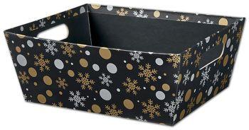 Christmas Elegance Market Trays, 12 x 9 1/2 x 4 1/2