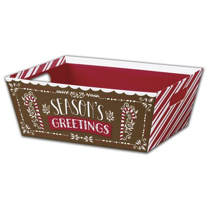 Gingerbread House Market Trays, 12 x 9 1/2 x 4 1/2""