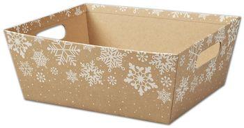 Kraft Snowflakes Market Trays, 12 x 9 1/2 x 4 1/2