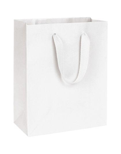 Wall Street White Manhattan Eco Euro-Shoppers, 8 x 4 x 10