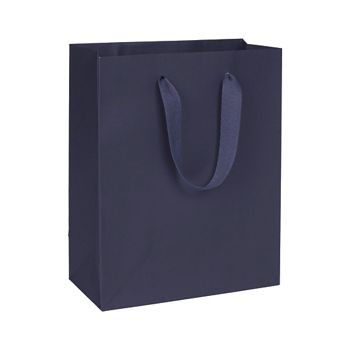 Nolita Navy Manhattan Eco Euro-Shoppers, 8 x 4 x 10""