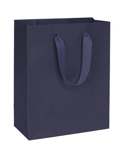 "Nolita Navy Manhattan Eco Euro-Shoppers, 8 x 4 x 10"""