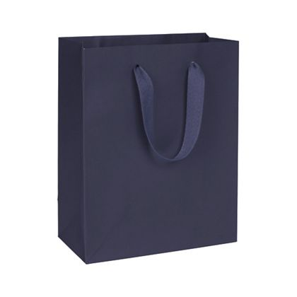 Nolita Navy Manhattan Eco Euro-Shoppers, 8 x 4 x 10