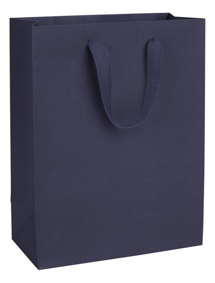 Nolita Navy Manhattan Eco Euro-Shoppers, 10 x 5 x 13""