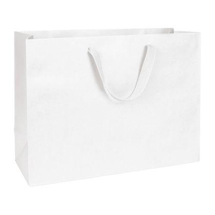 Wall Street White Manhattan Eco Euro-Shoppers, 16 x 6 x 12