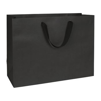 Broadway Black Manhattan Eco Euro-Shoppers, 16 x 6 x 12""