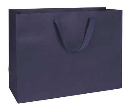 Nolita Navy Manhattan Eco Euro-Shoppers, 16 x 6 x 12""