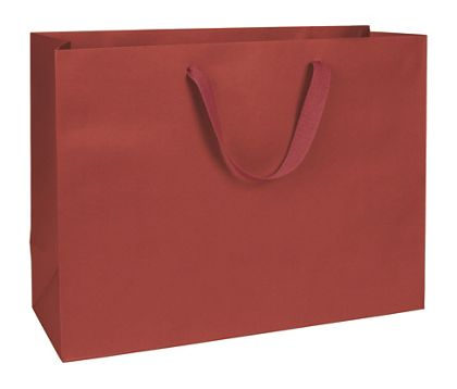 Radio City Red Manhattan Eco Euro-Shoppers, 16 x 6 x 12""