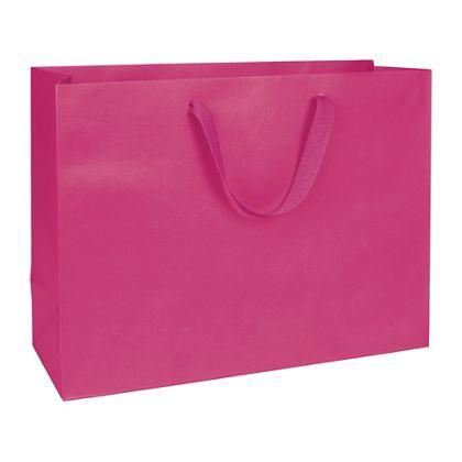"Fifth Avenue Fuchsia Manhattan Eco Euro-Shoppers, 16x6x12"""