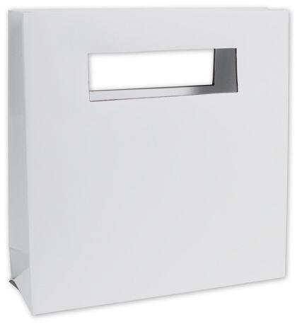 """White Out Mod Bag Mini Shoppers, 8 x 2 1/2 x 8"""""""