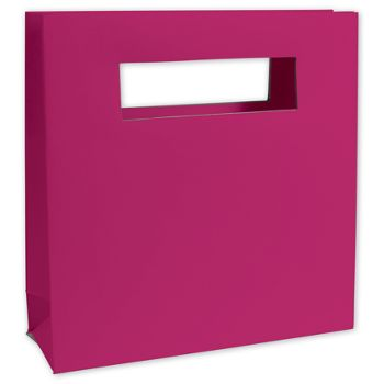 Fabulous Fuchsia Mod Bag Mini Shoppers, 8 x 2 1/2 x 8""