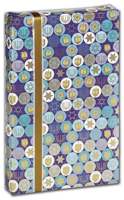 "Hanukkah Gelt Gift Wrap, 30"" x 417'"