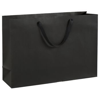 Broadway Black Manhattan Eco Euro-Shoppers, 20 x 6 x 14""