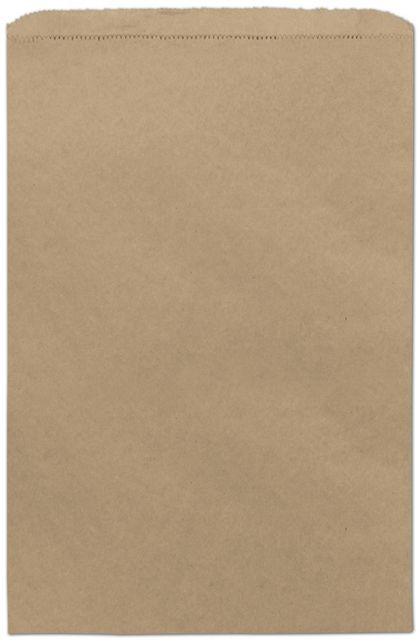 "Kraft Paper Merchandise Bags, 12 x 2 3/4 x 18"""