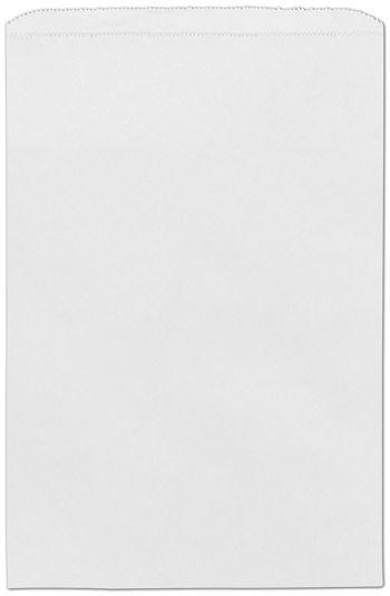 White Paper Merchandise Bags, 12 x 2 3/4 x 18