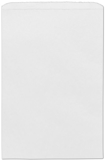 "White Paper Merchandise Bags, 12 x 2 3/4 x 18"""