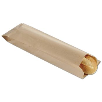 Kraft Paper Bottle and Bread Bags, 5 x 2 x 18