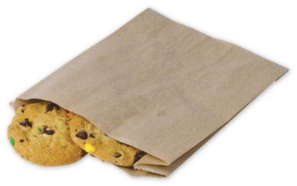 "Food Service Sandwich/Pastry Bags, Kraft 6 1/2 x 2 x 8"""