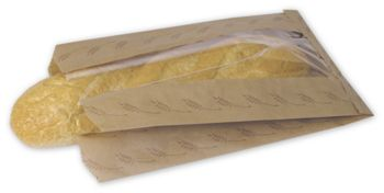 Food Service Bread Bags, Kraft, 8 1/2 x 4 1/2 x 14