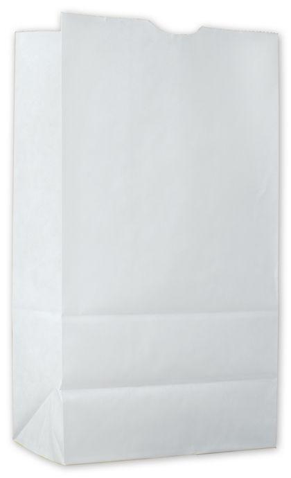 "Food Service Waxed SOS Bags, White Kraft, 6x3 3/8x11 1/8"""
